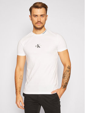 Calvin Klein Jeans Calvin Klein Jeans Marškinėliai J30J315878 Balta Regular Fit