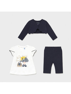 Mayoral Mayoral Completo coprispalle, maglietta e leggings 1706 Blu scuro Slim Fit