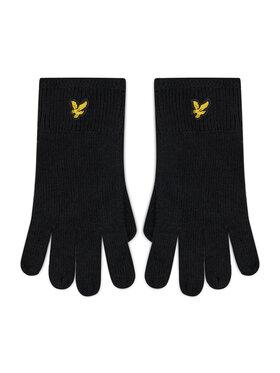 Lyle & Scott Lyle & Scott Pánske rukavice Racked Rib Gloves GL304CL Čierna