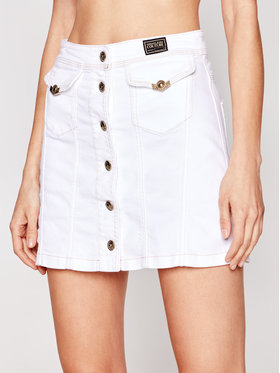 Versace Jeans Couture Versace Jeans Couture Džínová sukně A9HWA37I Bílá Regular Fit