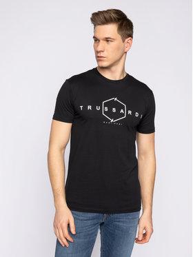 Trussardi Jeans Trussardi Jeans Tricou 52T00315 Negru Regular Fit