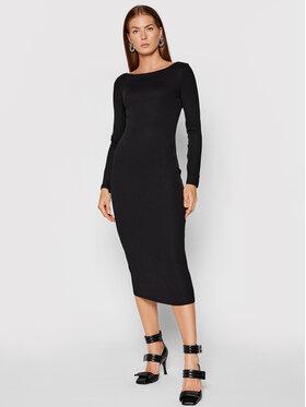 Armani Exchange Armani Exchange Sukienka dzianinowa 6KYA88 YJ6TZ 1200 Czarny Slim Fit