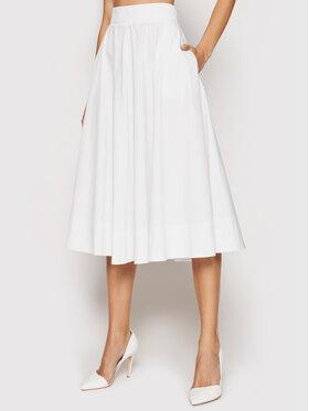 Marella Marella Φούστα σε γραμμή Α Pianola 31010612 Λευκό Regular Fit