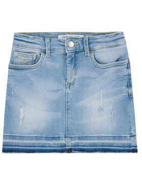 Calvin Klein Jeans Calvin Klein Jeans Fustă Denim IG0IG00457 Albastru Straight Fit