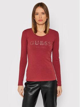 Guess Guess Majica Izaga Tee W1BI03 J1311 Ružičasta Slim Fit