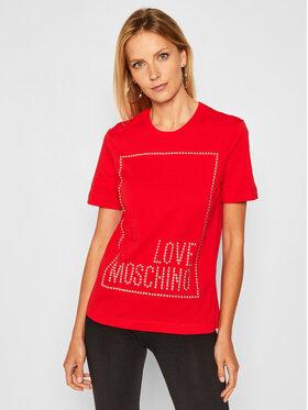LOVE MOSCHINO LOVE MOSCHINO Тишърт W4H0604M 3876 Червен Regular Fit