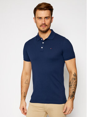 Tommy Jeans Tommy Jeans Polo DM0DM04266 Granatowy Slim Fit