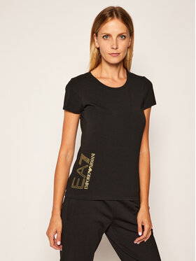 EA7 Emporio Armani EA7 Emporio Armani T-Shirt 6HTT03 TJ2HZ 1200 Czarny Slim Fit