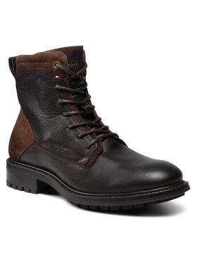 Tommy Hilfiger Tommy Hilfiger Stiefel Creative Leather Mix Zip Boot FM0FM03926GT6 Braun