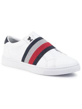 TOMMY HILFIGER TOMMY HILFIGER Сникърси Slip On Elastic Casual Sneaker FW0FW04597 Бял