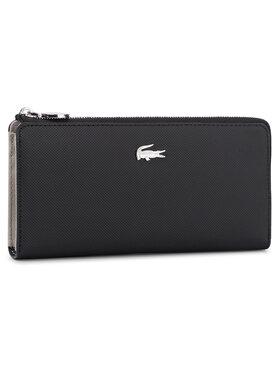Lacoste Lacoste Portefeuille femme grand format Slim Zip Wallet NF2780DC Noir