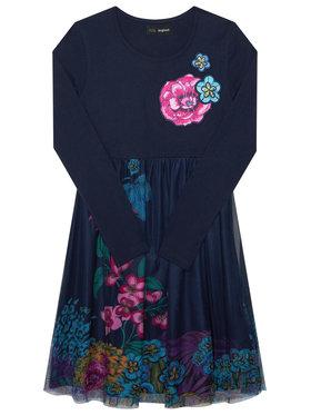 Desigual Desigual Každodenní šaty Granollers 20WGVK68 Tmavomodrá Regular Fit