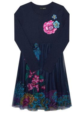 Desigual Desigual Kleid für den Alltag Granollers 20WGVK68 Dunkelblau Regular Fit