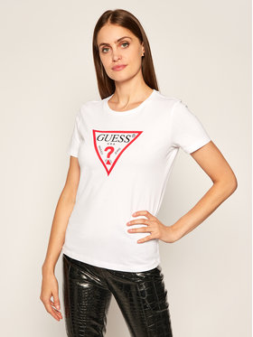 Guess Guess T-shirt Triangle Logo W0YI57 K8HM0 Bianco Regular Fit