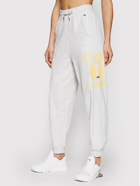 Tommy Jeans Tommy Jeans Pantaloni da tuta Tjw Hrs Bball DW0DW09742 Grigio Relaxed Fit