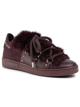 Eva Minge Eva Minge Sneakersy EM-10-06-000486 Bordó