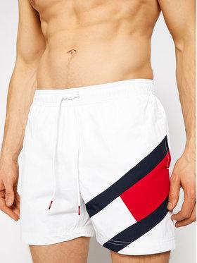 Tommy Hilfiger Tommy Hilfiger Szorty kąpielowe Sf Medium Drawstring UM0UM02048 Biały Regular Fit