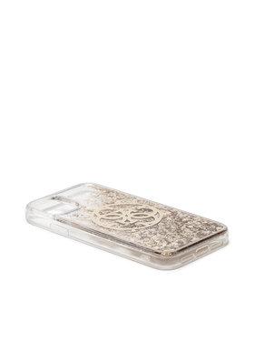 Guess Guess Etui na telefon Circle Liquid Glitter GUHCN61LGGITDGO Złoty