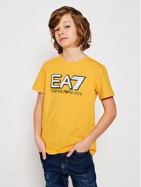 EA7 Emporio Armani EA7 Emporio Armani T-shirt 6HBT53 BJ7CZ 1603 Jaune Regular Fit