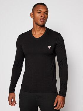 Guess Guess Marškinėliai ilgomis rankovėmis M0BI08 J1311 Juoda Super Slim Fit