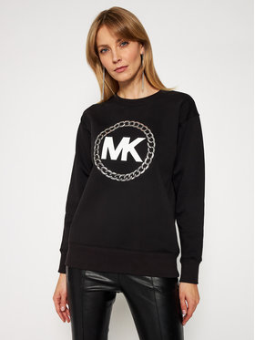 MICHAEL Michael Kors MICHAEL Michael Kors Pulóver MH05MUXBDD Fekete Relaxed Fit