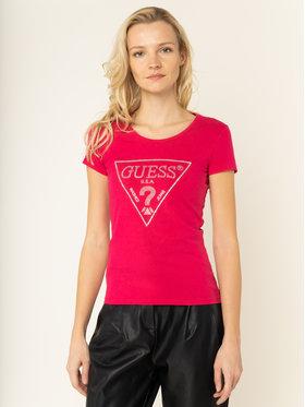 Guess Guess T-Shirt Sparkle Tee W01I90 J1300 Růžová Slim Fit