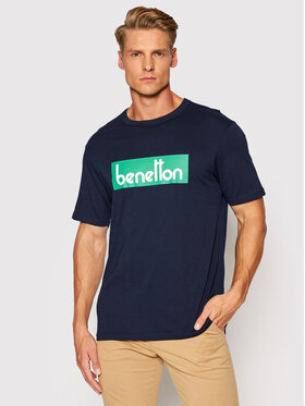 United Colors Of Benetton United Colors Of Benetton T-Shirt 3096J17H6 Granatowy Regular Fit