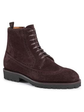 Boss Boss Šnurovacia obuv Edenlug 50439770 10212392 01 Hnedá