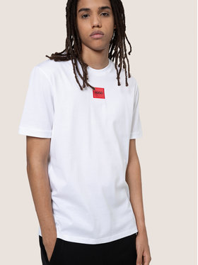Hugo Hugo T-Shirt Diragolino 50437287 Weiß Regular Fit