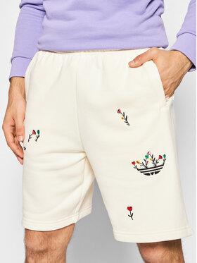adidas adidas Szorty sportowe Allover Print Floral H32307 Beżowy Regular Fit