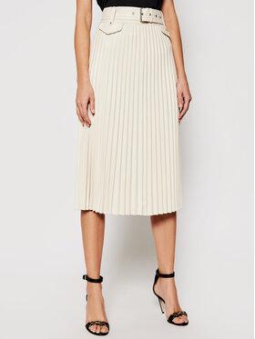 Morgan Morgan Kožená sukně 202-JPLISS Béžová Regular Fit