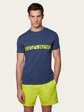 Boss Boss Marškinėliai RN UV-Protection 50407600 Tamsiai mėlyna Slim Fit