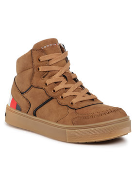 Tommy Hilfiger Tommy Hilfiger Sneakersy High Top Lace-Up Sneaker T3B4-30926-1030 M Brązowy