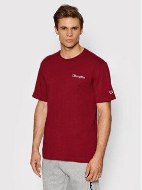 Champion Champion T-Shirt Small Script Logo 216480 Bordowy Comfort Fit