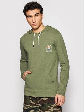 Quiksilver Quiksilver Тениска с дълъг ръкав Beal Hoody EQYKT04122 Зелен Regular Fit