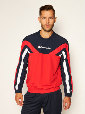 Champion Champion Bluza Colour Block And Stripe Track 214262 Czerwony Custom Fit