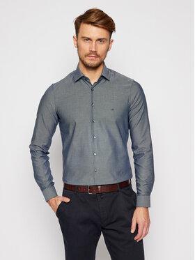 Calvin Klein Calvin Klein Koszula Structrure Easy Care K10K106237 Granatowy Slim Fit