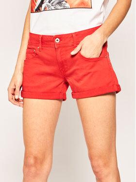 Pepe Jeans Pepe Jeans Džinsiniai šortai Siouxie PL800685 Oranžinė Regular Fit