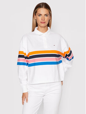 Tommy Jeans Tommy Jeans Tricou polo DW0DW09307 Alb Regular Fit