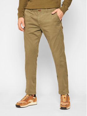 Roy Robson Roy Robson Текстилни панталони 941-51 Зелен Slim Fit