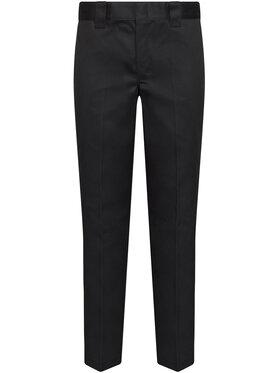 Dickies Dickies Spodnie materiałowe Straight Work DK0WP873BLK Czarny Slim Fit