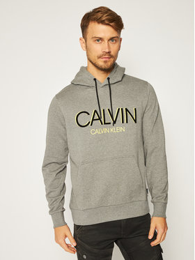 Calvin Klein Calvin Klein Mikina Shadow Logo K10K105584 Sivá Regular Fit