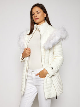 Guess Guess Kurtka puchowa New Oxana W0BL1A W6NW0 Biały Slim Fit