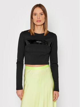 Calvin Klein Jeans Calvin Klein Jeans Блузка J20J216757 Чорний Cropped Fit