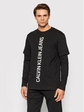 Calvin Klein Jeans Calvin Klein Jeans Тениска с дълъг ръкав J30J318730 Черен Relaxed Fit