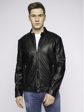 Trussardi Jeans Trussardi Jeans Veste en cuir 52S00414 Noir Regular Fit
