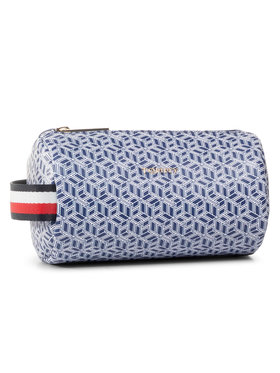 TOMMY HILFIGER TOMMY HILFIGER Pochette per cosmetici Iconic Tommy Washbag Mono AW0AW08026 Blu scuro