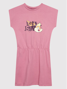 Hummel Hummel Sukienka codzienna SPACE JAM Twilight 215876 Różowy Regural Fit