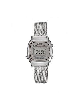 Casio Casio Zegarek Vintage LA670WEM-7EF Srebrny