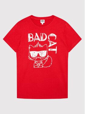 KARL LAGERFELD KARL LAGERFELD T-Shirt Z25303 D Czerwony Regular Fit